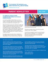 ARCH 18927 Parent Newsletter Fall 2018