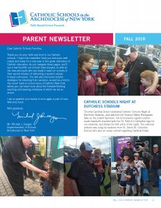 Fall 2019 Parent Newsletter
