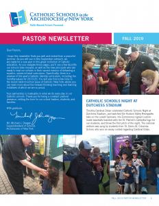 Fall 2019 Pastor Newsletter